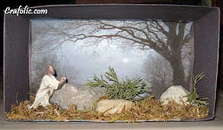 Agony in the Garden ~Craft / Diorama | Catholic Inspired ~Arts, crafts, games, and more!