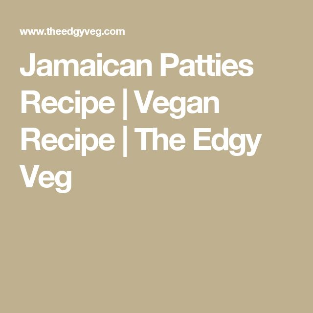 Jamaican Patties Recipe | Vegan Recipe | The Edgy Veg