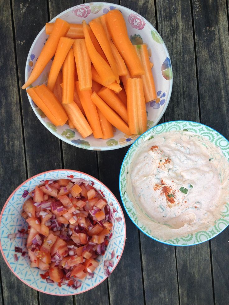 Carrots and dips