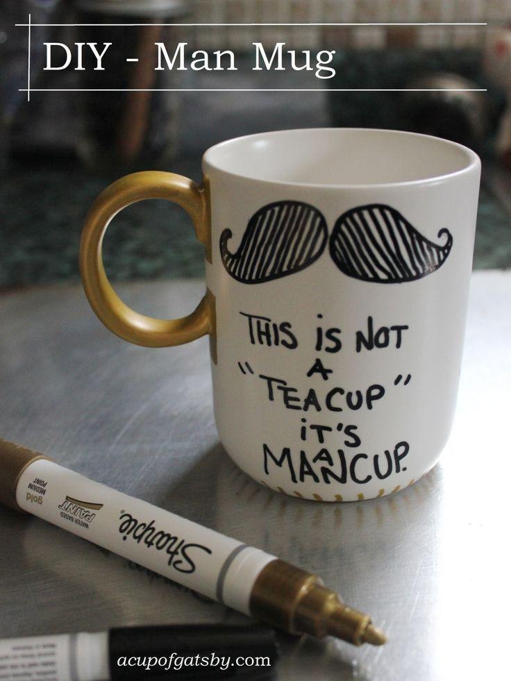 man mug DIY for men, for guys, for him