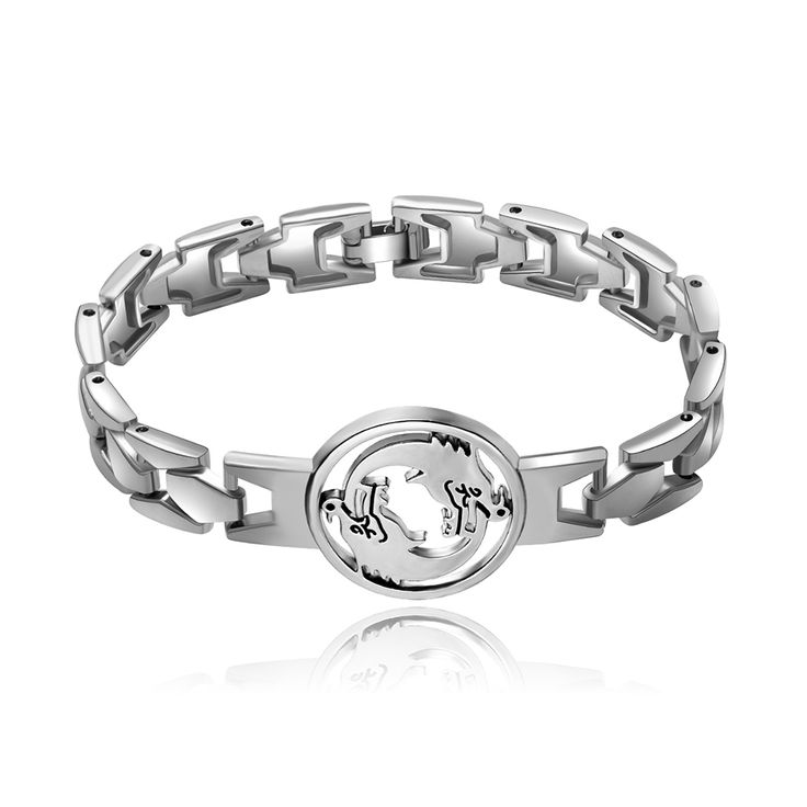 New Game Overwatch Idol Hanzo Ultimate Silver Color Alloy Bracelet Cool Punk Double Dragon Cosplay Gift Jewelry Unisex #Affiliate
