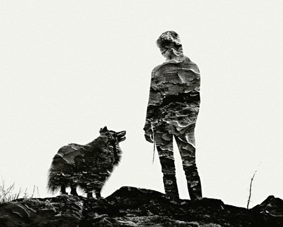 Multiple exposure portraits by Christoffer Relander - I just like the way the dog and owner are gazing at each other, I can almost feel the love :-)