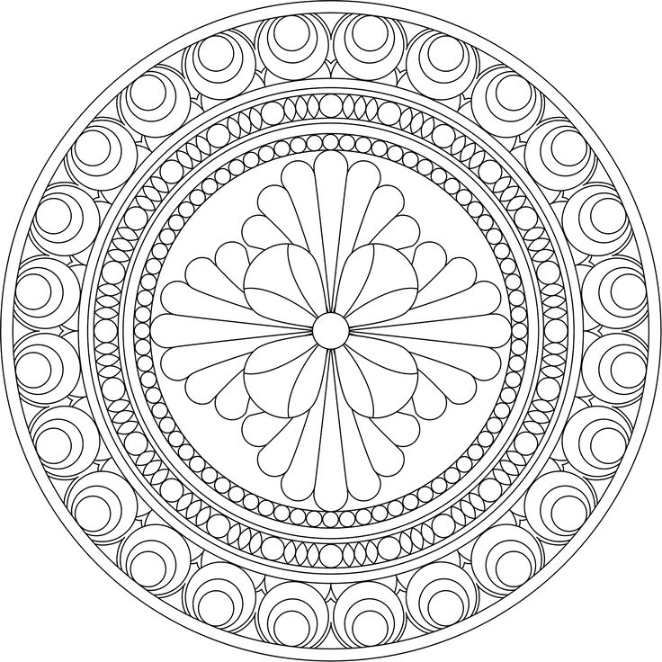 525 best Mandala Coloring Pages images on Pinterest