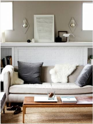I Like The Look Of A Cream Or Taupe Sofa And Charcoal Gray