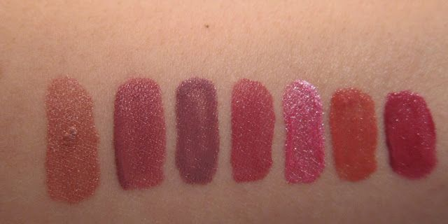 REVIEW: Maybelline Superstay 24 h Lipsticks. Timeless Toffee, Timeless Rose, Perpetual Plum, Very Cranberry, Blush On, Eternal Sunset, Keep it Red