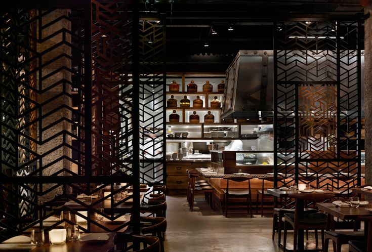 Luxury asian restaurant interior design in modern