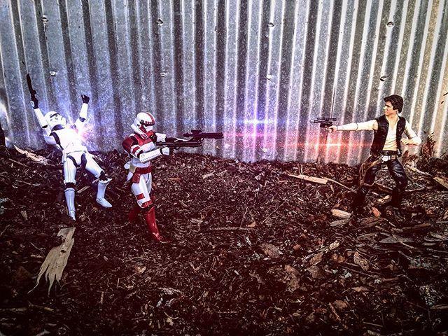 Blast him!! #shocktrooper #stormtrooper #toyphotography #starwars…