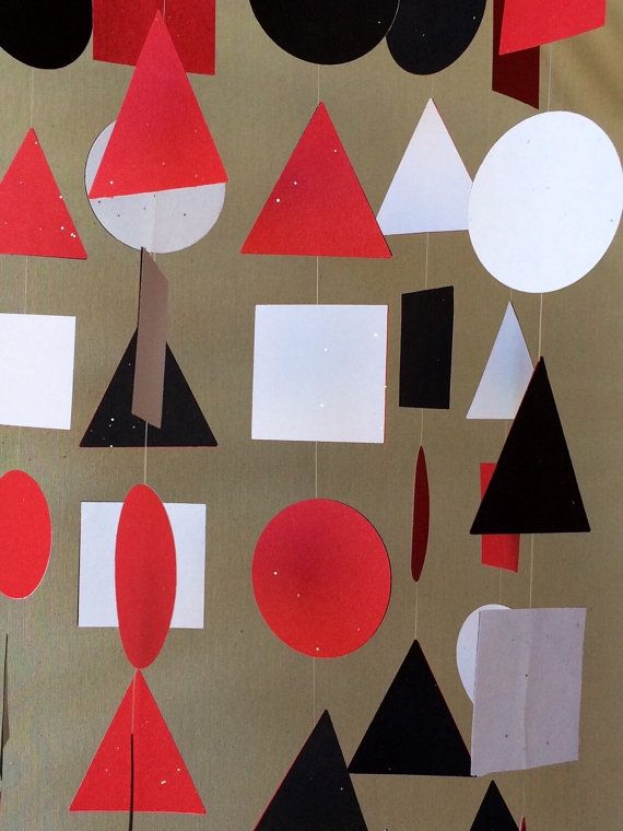 Geometric Nursery Mobile - Baby Mobile - Montessori - Crib Mobile - Baby Mobiles Hanging - Red Baby Mobile - Baby Mobile for Crib - Shapes