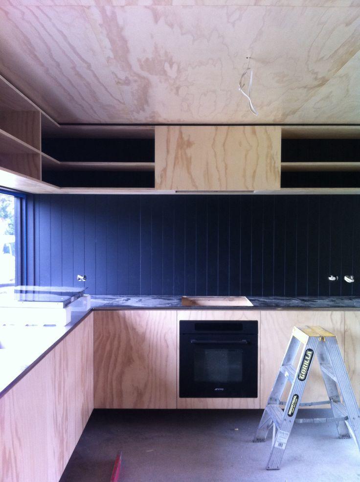 Kitchen being installed