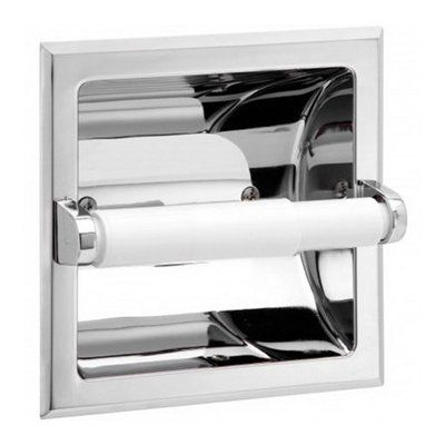 Taymor 02-D101S Polished Chrome Recessed Toilet Paper Holder