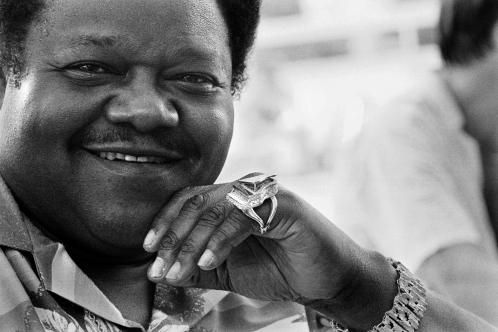 Fats Domino in 1985 at a Grande Parade du Jazz event in Nice, southern France