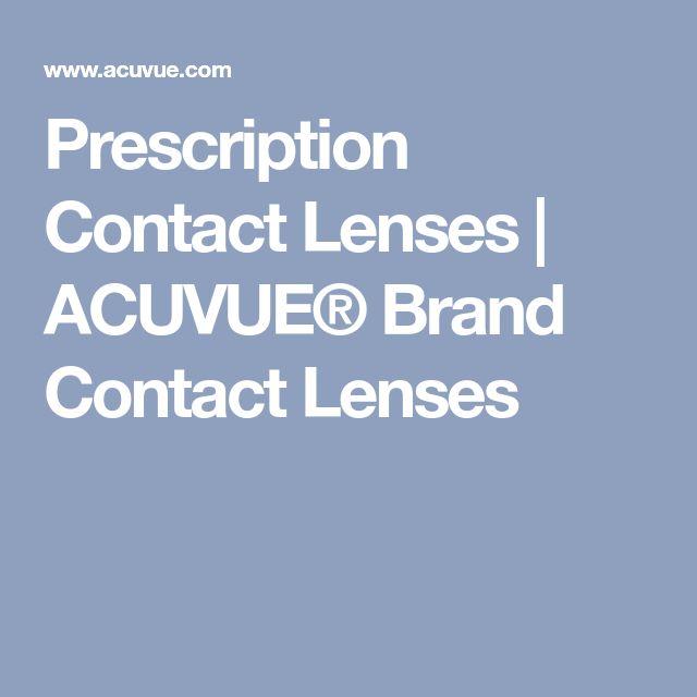 Prescription Contact Lenses | ACUVUE® Brand Contact Lenses