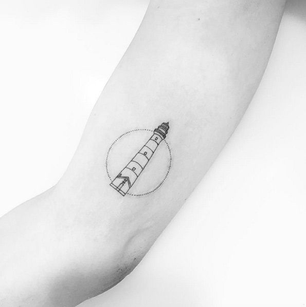 Minimalistic Lighthouse Tattoo Design by Jon Boy