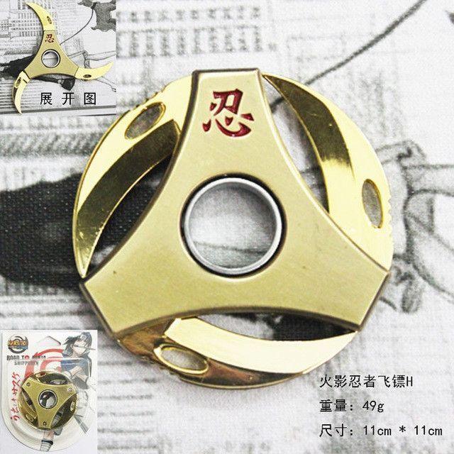 Fidget Spinners Naruto Round Foldable Shuriken Spinner
