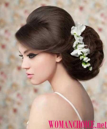 Свадебные прически с челкой - 116 фото на средние и длинные волосы | WomanChoice - женский сайт