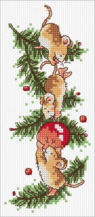 Bauble Mice Margaret Sherry Cross Stitch Christmas SLKD27 – £3.95