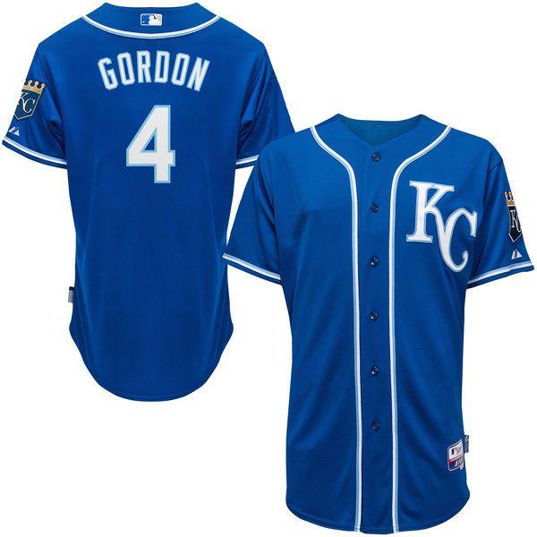 Alex Gordon Kansas City Royals Majestic Alternate 6300 Player Authentic Jersey - Royal - $173.99