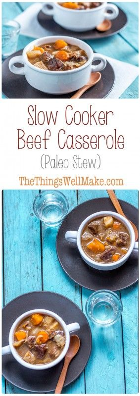 One of the best comfort foods, this slow cooker beef casserole, or paleo stew, is very easy to make, filling, and very nourishing. What better way is there to warm up on a cold winter's day?