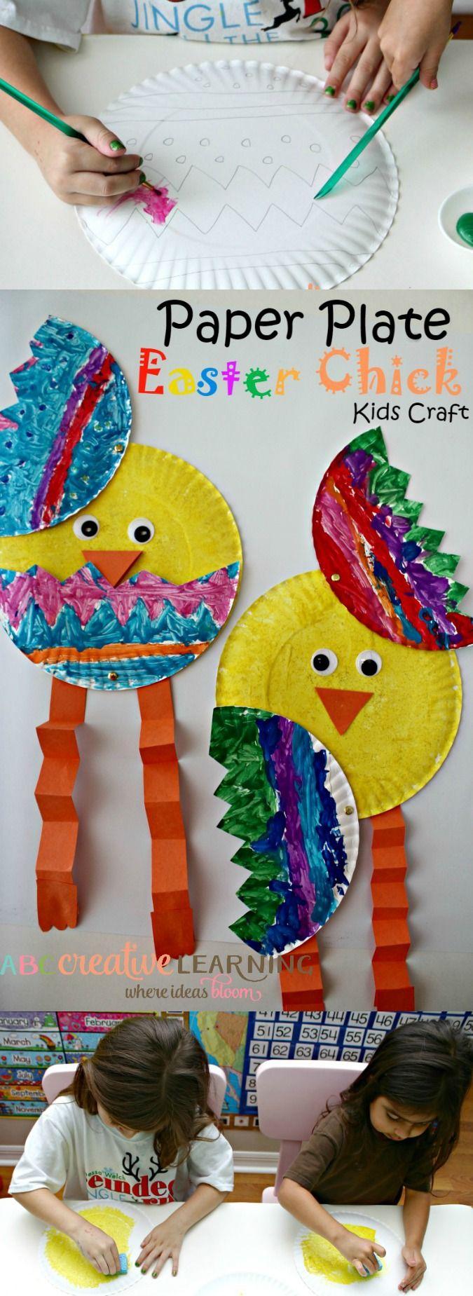 Paper Plate Easter Craft - simplytodaylife.com