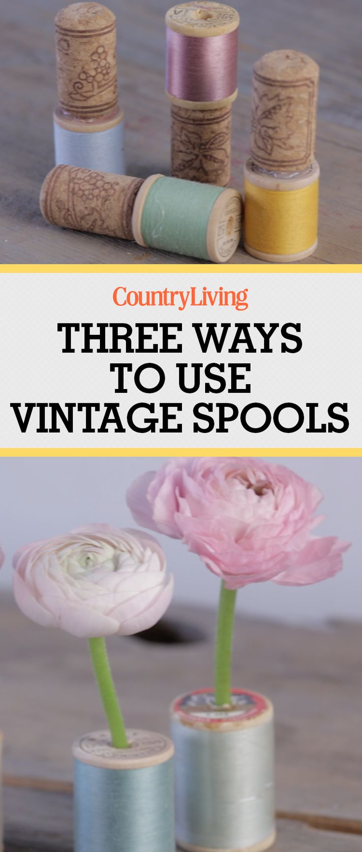 diy crafts projects something recycled materials craft spool wood easy colorful countryliving ways using crafty gifts flowers fun wooden decorations
