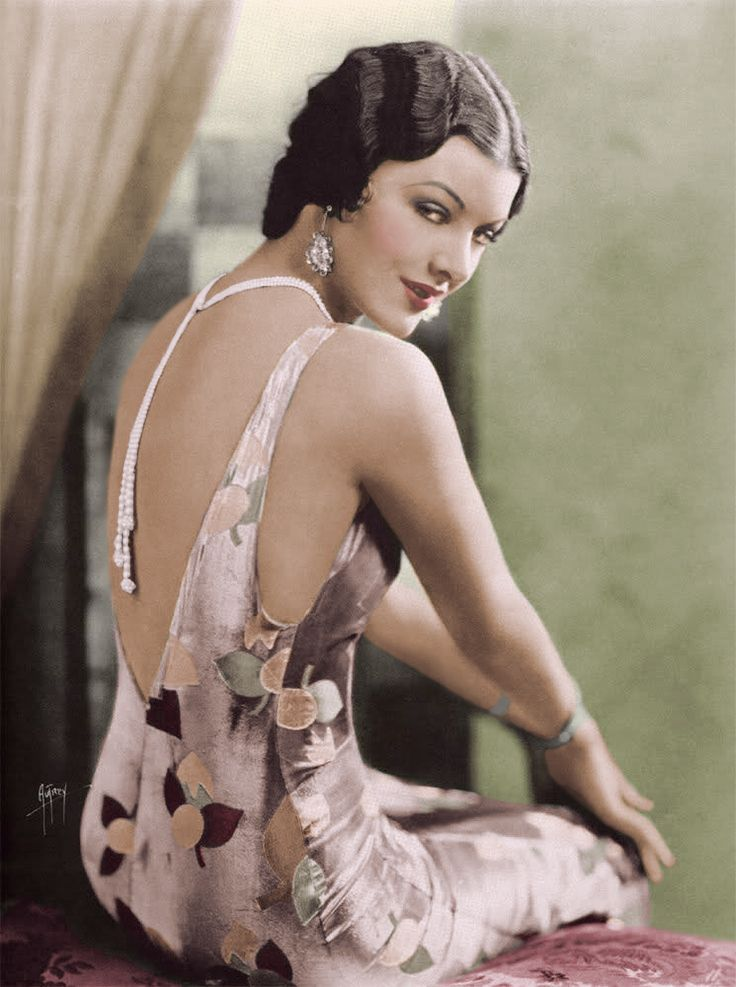 Myrna Loy colorised by Andy Shaw