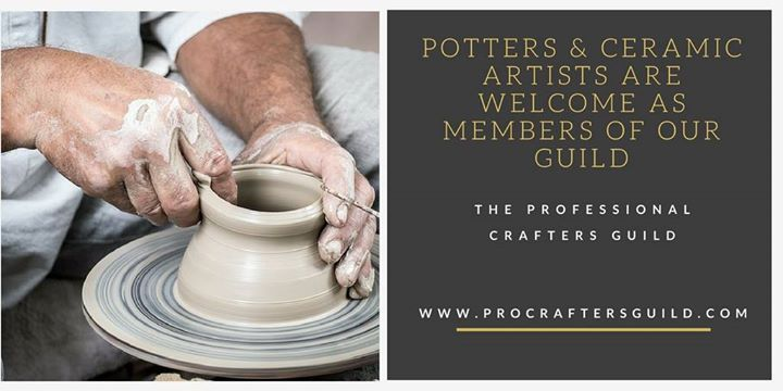 Potters and Ceramic Artists are welcome to join us at the PCG. Professional Crafter's Guild