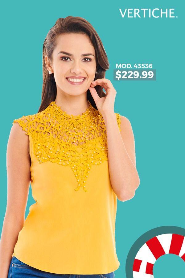 Atrevete Con El Amarillo Ropa Blusas Verano