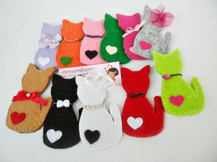 ! noyumberry !: ♥♥Renk Renk Kedi Broşlar ♥♥