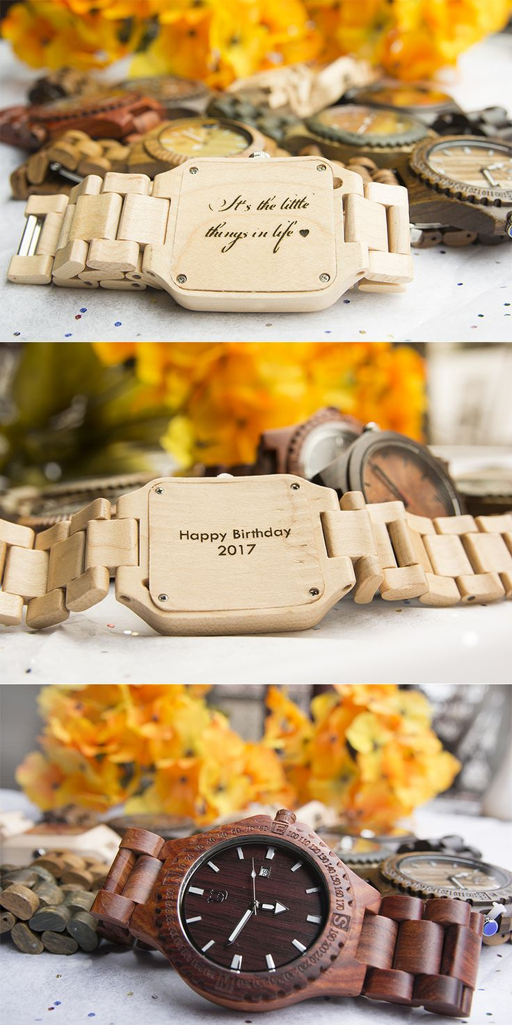Your Next Gift Choice...100% natural wooden watches collection from UD