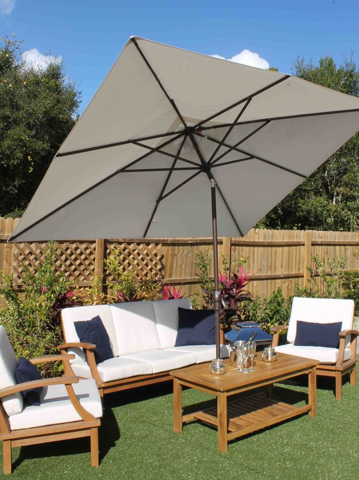 8ft X 10ft Rectangular Umbrella U2013 Sunbrella Fabric