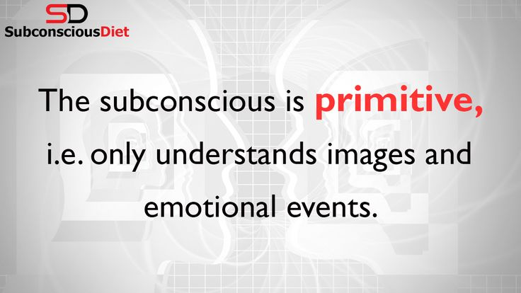 http://SubconsciousDiet.com. You need to understand the subconscious so you are able to harness its awesome power. Learn more here. Follow SubconsciousDiet on Twitter: http://Twitter.com/DietmindHacks Like SubconsciousDiet on Facebook: http://Facebook.com/SubconsciousDiet