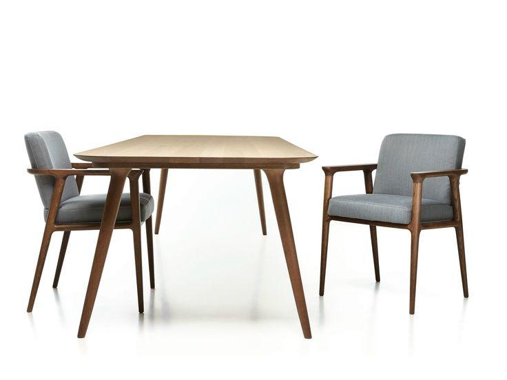 Gepolsterter Stuhl mit Armlehnen ZIO DINING CHAIR by Moooi© Design Marcel Wanders