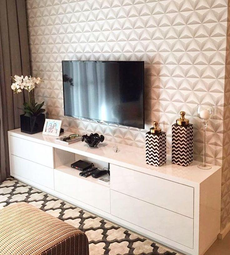 12.9K 個讚,159 則留言 - Instagram 上的 • 🎨 Arquitetura, Decor & Mais(@decoremais):「 Inspiração painel de Tv com papel de parede 3D!! Simples e lindo!! Ameii ☺️❤️ Autoria do Projeto:… 」