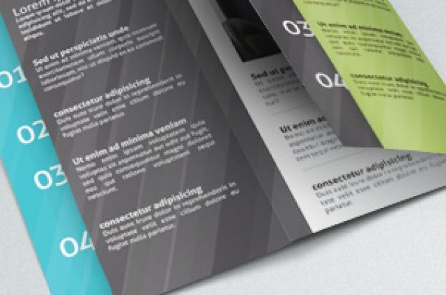 Communicate efficiently with this 11 x 8.5 tri-fold corporate  brochure. Ideal to present services and benefits in a concise and...