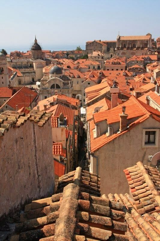 Italy A Sea Of Terracotta Roof Tops Italia Summerholiday Vacation Terracotta Roof Tiles Terracotta Roof Roof Tiles