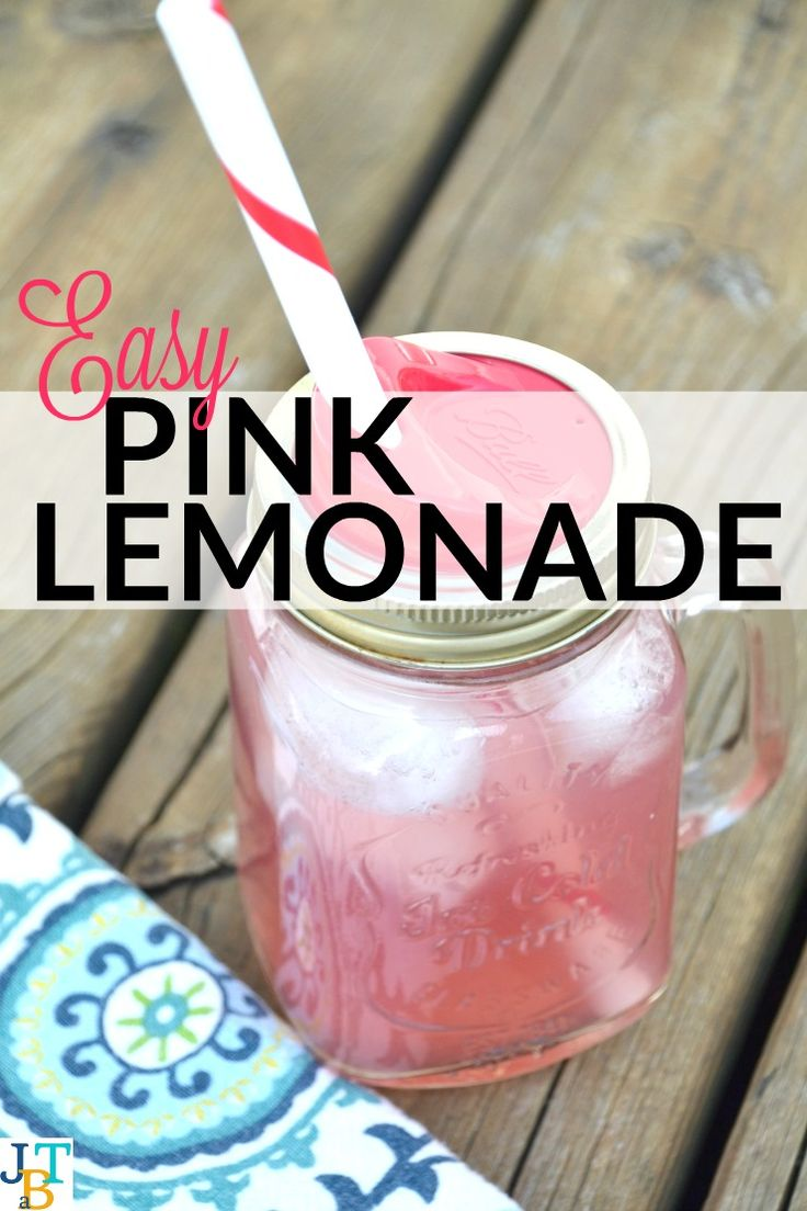 Easy Pink Lemonade | Just Take A Bite | Healthy Drinks ...