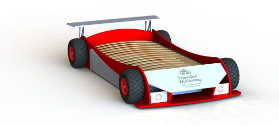 Car beds: Race bed plans twin size by FriendbeWorkshop on Etsy