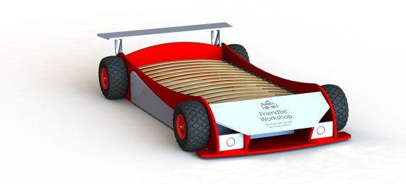 Planes de bricolaje doble planes de carrera coche cama
