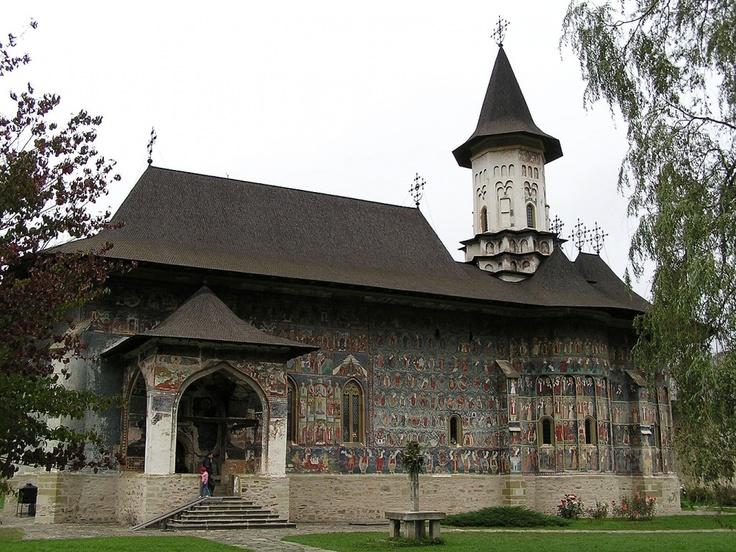 Painted Sucevita Monestary. Have you seen something like it anywhere else? :) #Romania #travel #monestaries #religion