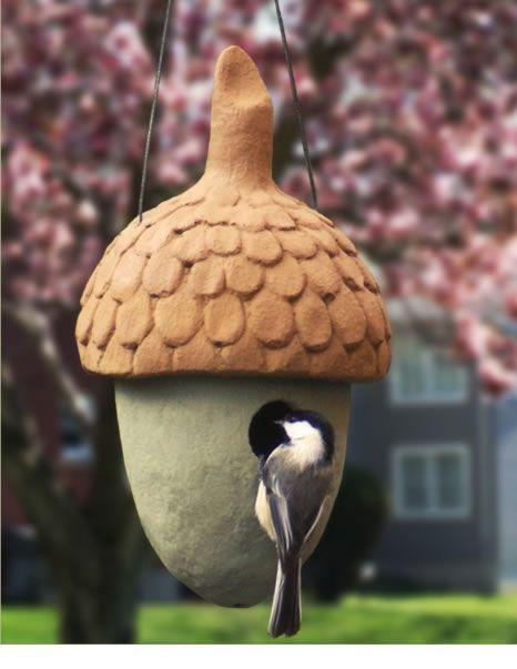 Nuthouse Vogelhaus. Die 1-1 / 4-Zoll-Öffnung ist perfekt für kleine Hohlraumbewohner …   – Raku