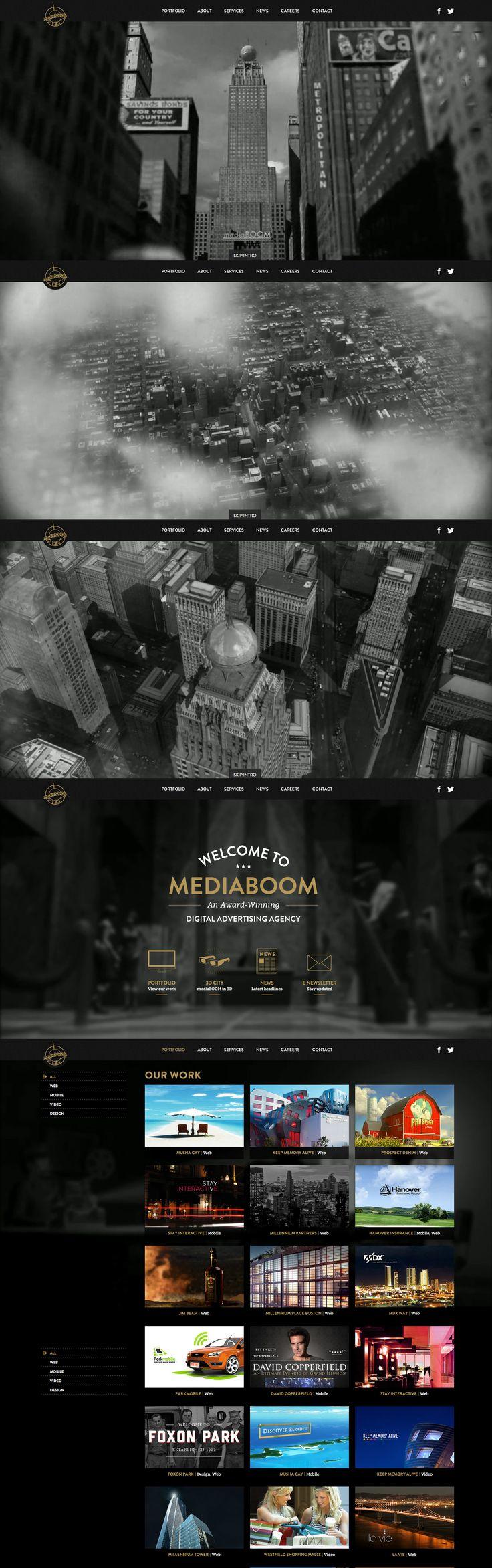 Layout photoshop web design website template tutorials tutorial 022 - Cidade Urbano Landscape Black B Website Design Layoutweb