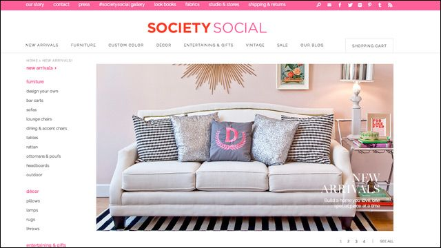 Where to shop for decor online: Society Social