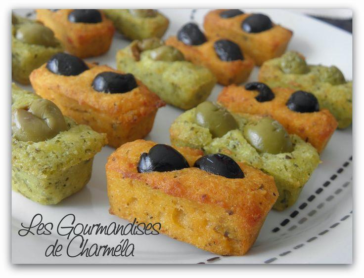 Les Gourmandises de Charméla: FINANCIERS PESTO, POIVRONS ET AUBERGINES