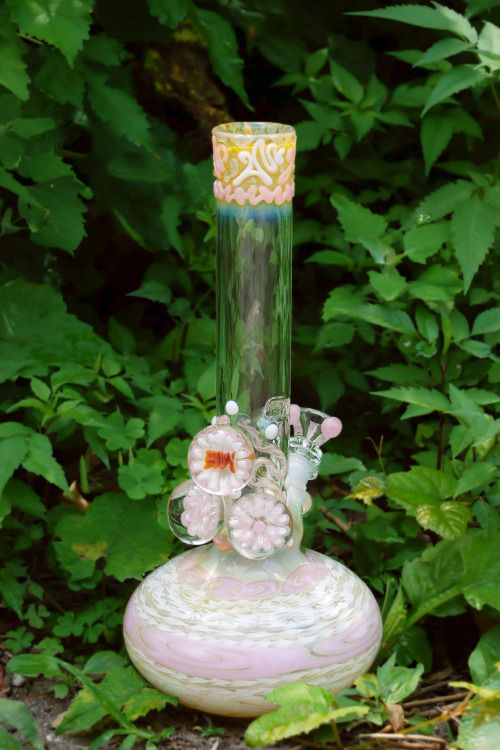 peace-of-sunshine: Blush pink water pipe by HVY Glass with...