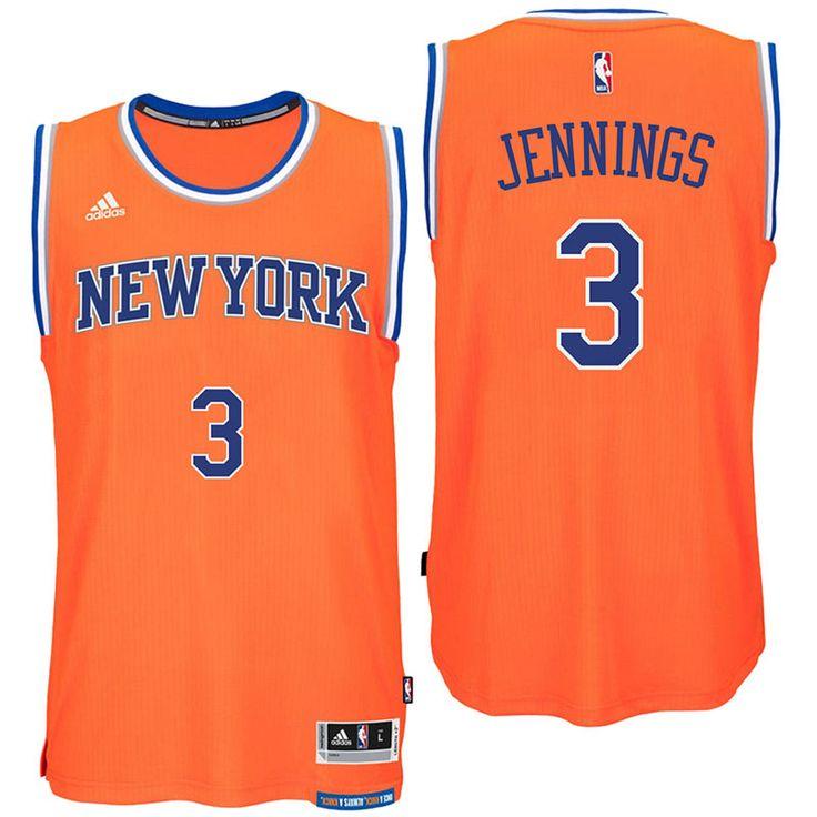 New York Knicks #3 Brandon Jennings 2016 Alternate Orange New Swingman Jersey