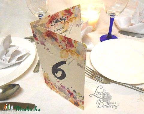 Esküvői Virágos Menü, Rózsás Virágos Esküvői lap, Esküvő Képeslap, rózsaszín meghívó, Party menü, Esküvő, Naptár, képeslap, album, Meghívó, ültetőkártya, köszönőajándék, Esküvői dekoráció, Meska