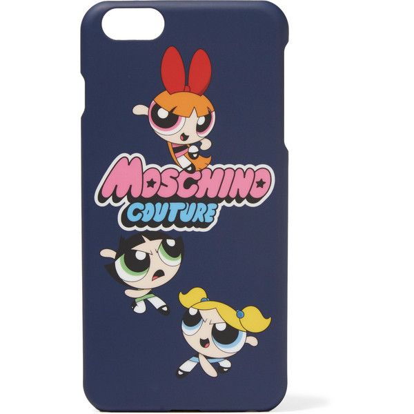 Moschino - Printed Iphone 6 Case (488.770 IDR) ❤ liked on Polyvore featuring accessories, tech accessories, blue, iphone cases, moschino, apple iphone case, moschino iphone case and blue iphone case