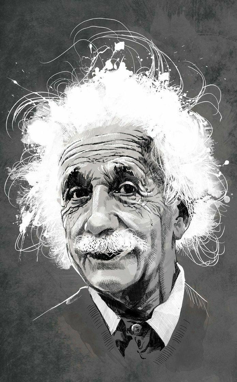 барбус эйнштейн альберт постер татуировки для мужчин