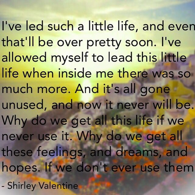 Shirley Valentine Movie <3