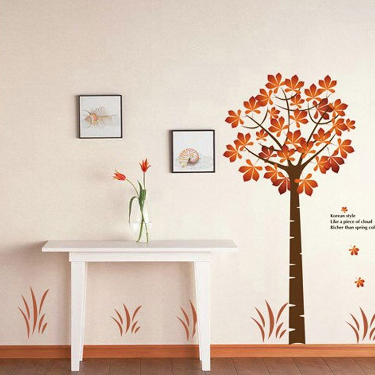 High Quality Beautiful Maple 2pcs Wall Stickers Art Decals Mural DIY Wallpaper for Room Decal 60 * 90cm from tomtop.com